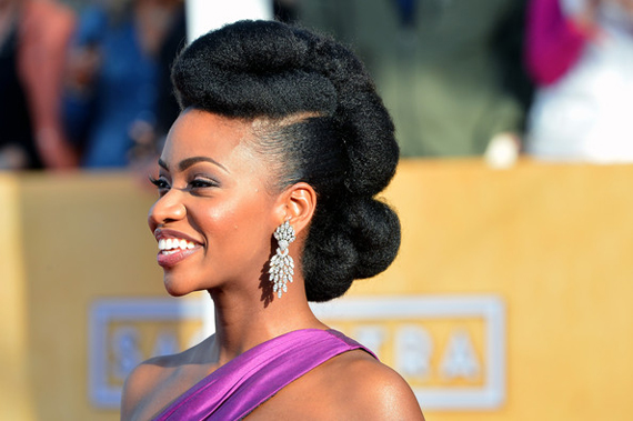 Teyonah-Parris-red-carpet-hair-SAG