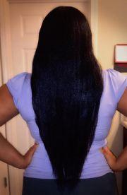 blow dry waist length hair