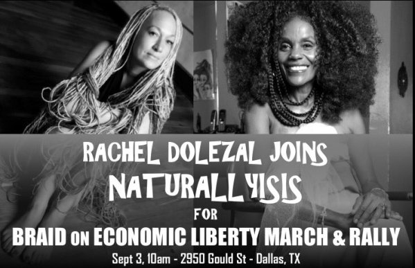 Rachel Dolezal Joins Isis Brantley's Natural Hair Rally