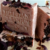 Egyptian Geranium with French Rose Clay Organic   Artisan Handmade Bar Soap