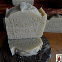 Volcanic Ash Soap Bar With Cocoa Butter and scented with Patchouli , Natural Skin Care Handcrafted Soap - The Way Traditional Soap Was Made., great for all Skin types