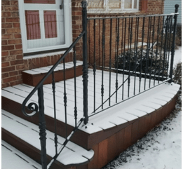 How To Replace An Outside Iron Railing Set In Cement | Wrought Iron Rails For Outdoor Steps | Balcony Balustrade | Staircase Railings | Front Porch Railings | Railing Kits | Rod Iron