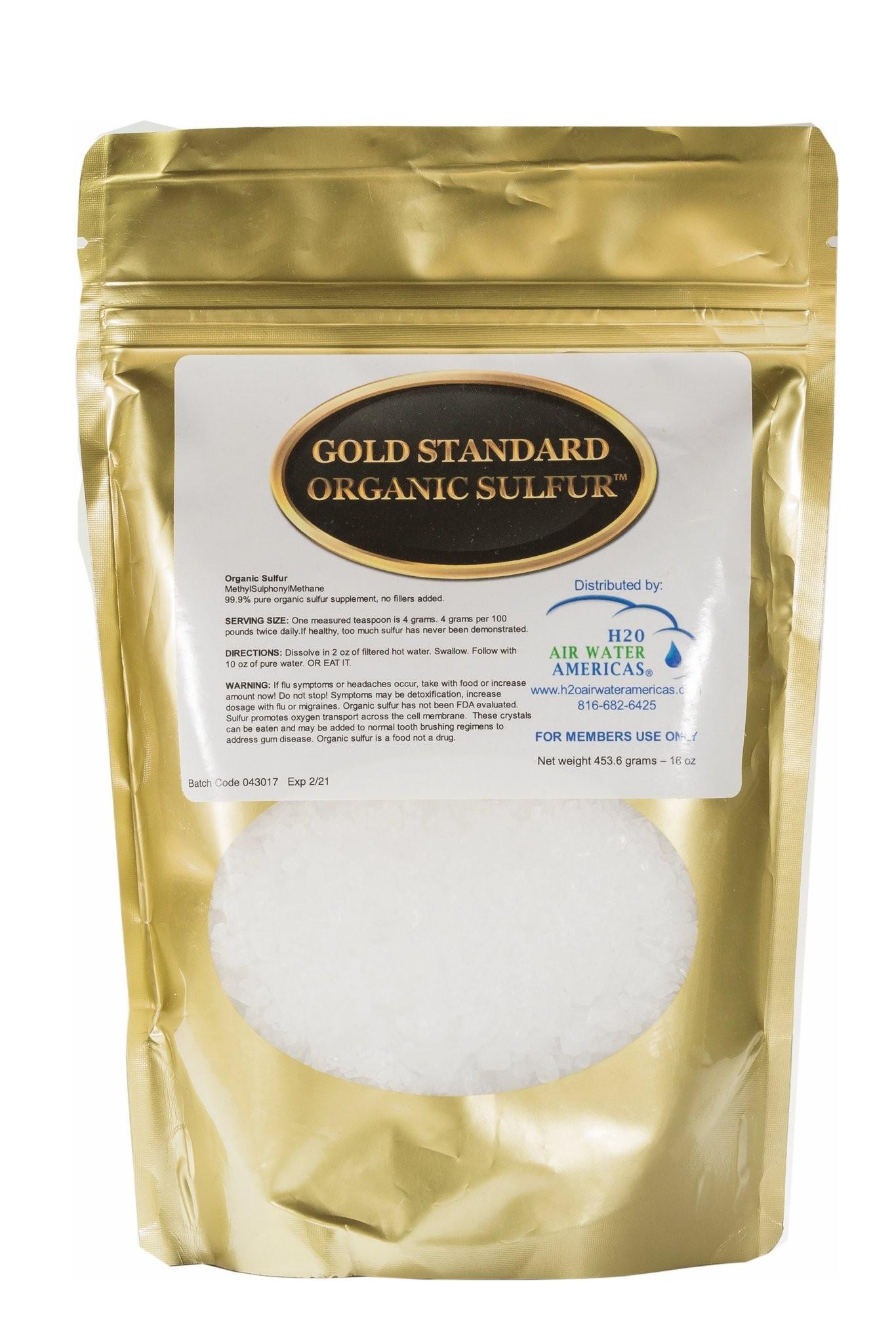 Gold Standard Organic Sulfur (Gold Standard) 1 pound - New ...