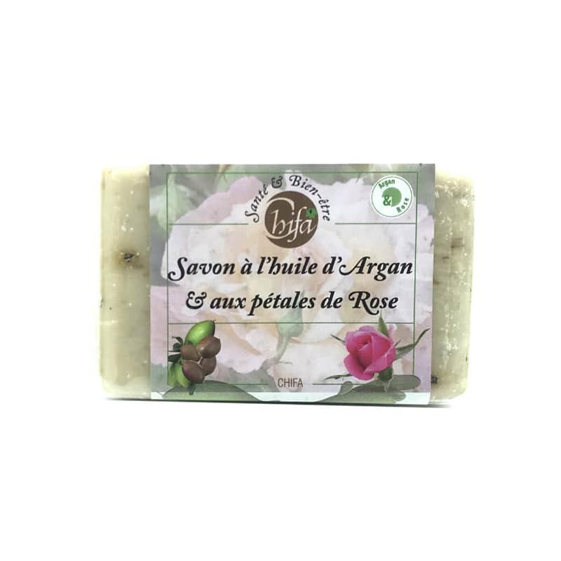 Savon A L'huile D'Argan Et Aux Pétales De Rose