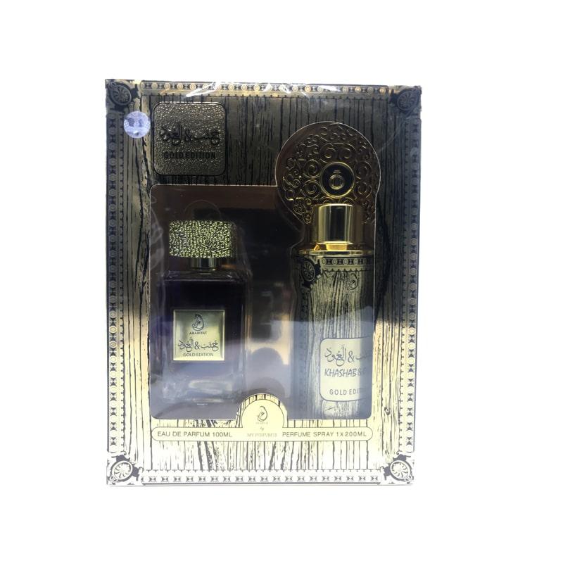 Coffret Cadeau Khashab & Oud Gold Edition Eau De Parfum 100 ml + Déodorant 200 ml My Perfumes1