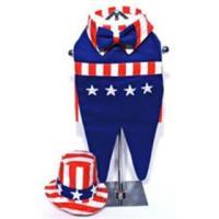 Uncle Sam Patriotic Dog Costume