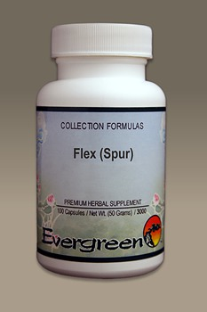 C3204 Evergreen Herbs Flex (Spur) Capsules 100 count Homeopathy Holistic Healthcare Natural Medicine Center Lakeland Central Florida