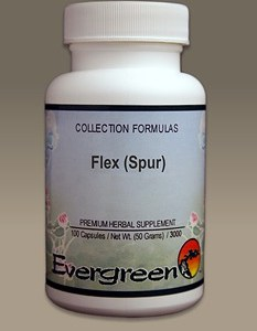 C3204 Evergreen Herbs Flex (Spur) Capsules 100 count Homeopathy Holistic Healthcare Natural Medicine Center Lakeland Central Florida