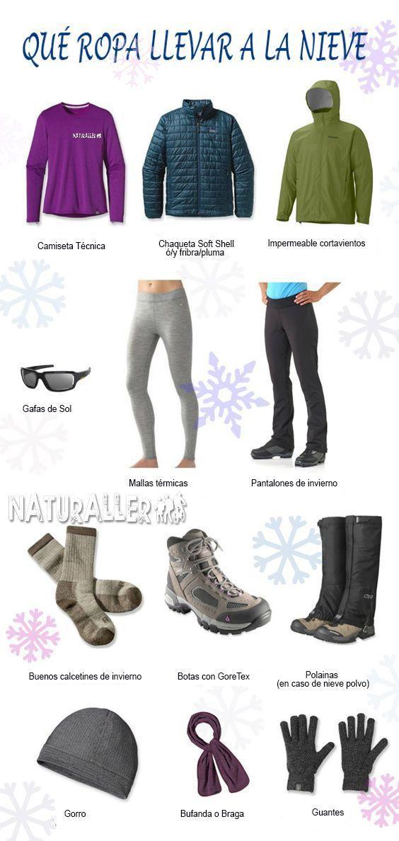 qué ropa llevar a la nieve