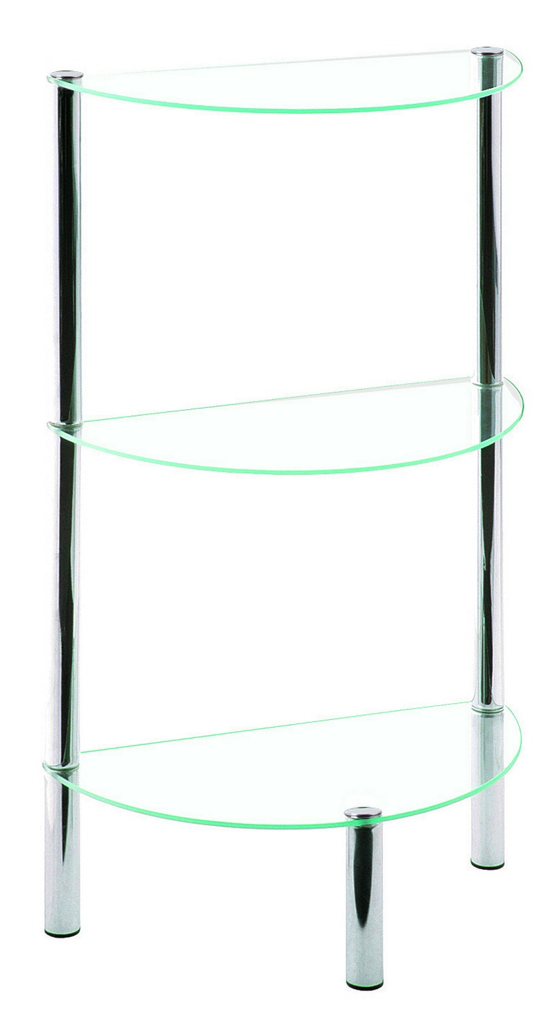 Emden Clear Glass & Chrome Half-Moon Display Stand (90242)