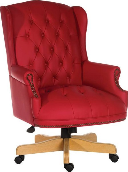 red leather executive office chair Chairman Executive Red Office Chair