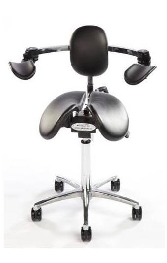 Salli Ergonomic Dentist Stool with moving armrests