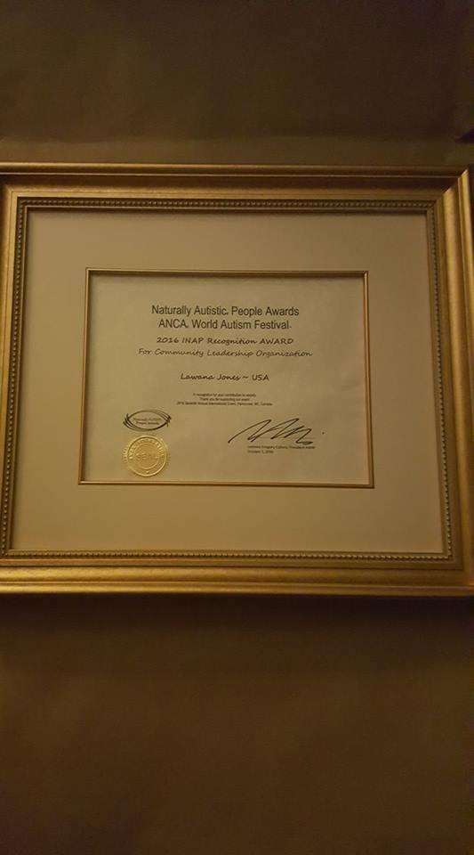 Lawana Jones recognition award USA