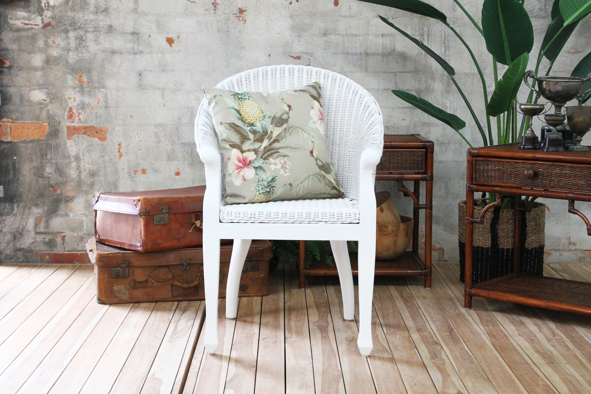 british colonial chair oversized folding arm white front ls naturally cane rattan and