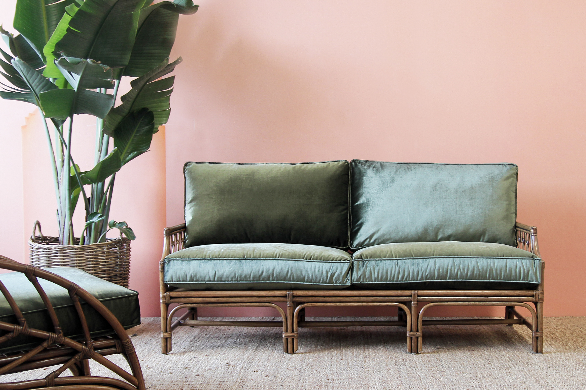 rattan love sofa daybed eilersen baseline m chaiselong catalina 3 seater naturally cane and