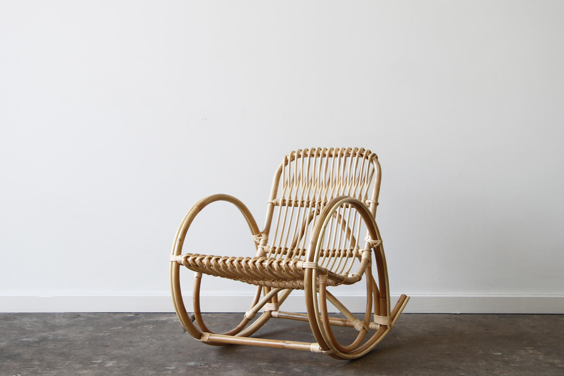Childs Deco Rocking Chair  Naturally Cane Rattan and