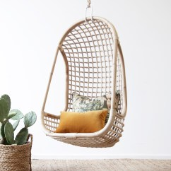 Hanging Chair Clear Desk Green Natural - In Stock | Naturally Cane Rattan And Wicker Furniture