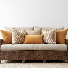 Sienna Sofa Sleeper Throw Pillows For Dark Grey Bed Double Size Naturally Cane Rattan And