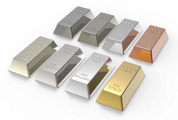 Image result for gold silver palladium platinum prices
