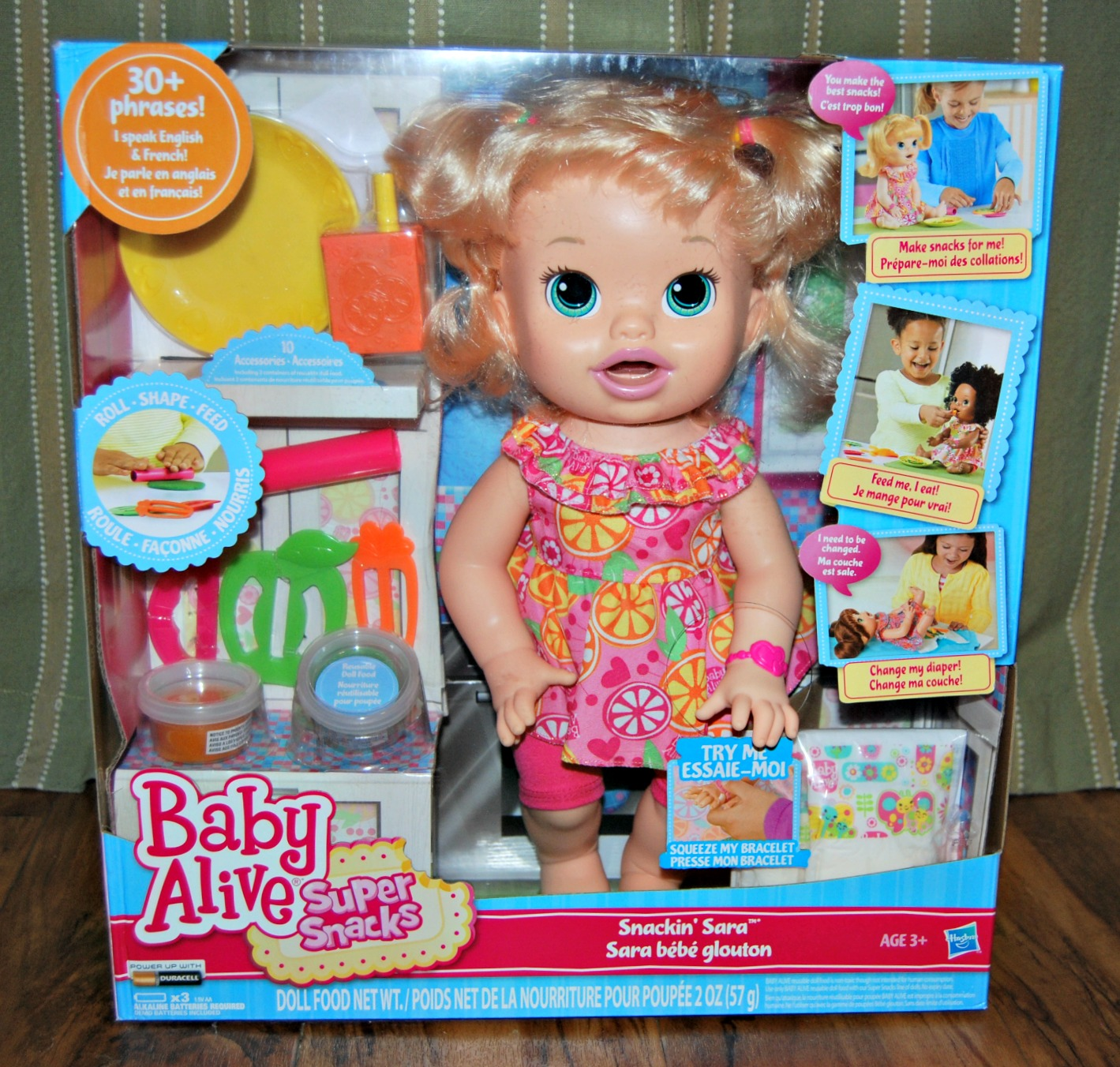Fast forward a couple years many years later and Hasbro has many different Baby  Alive Dolls to choose from. I was lucky to be sent Baby Alive Super Snacks  ... bd3b77e607