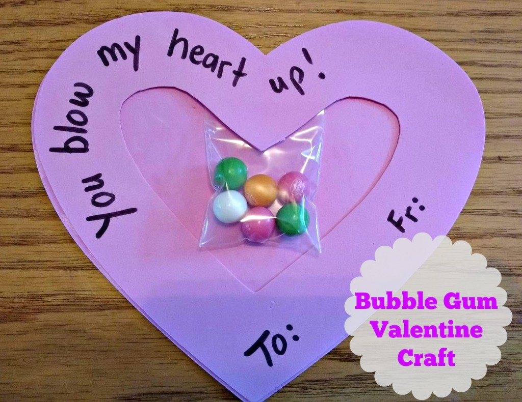 Bubble Gum Valentine Craft