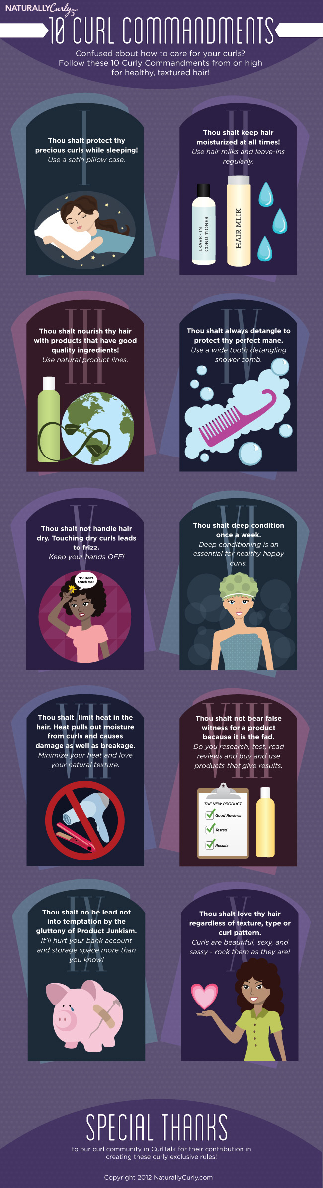The 10 Curl Commandments by NaturallyCurly.com