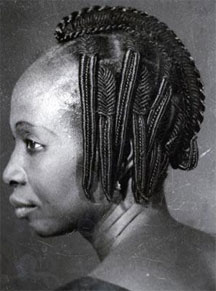 African hair style