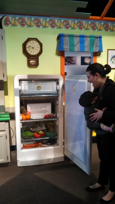 Lindsay LOVES fake food in fridges.  Seriously.