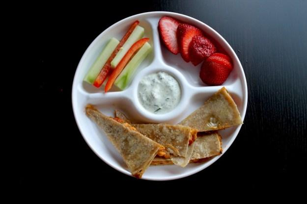 Vegan Toddler Meal Quesadilla