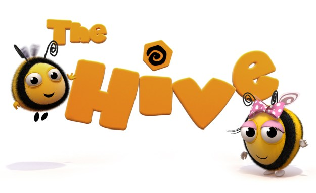the_hive_logo_and_bees
