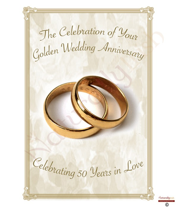 Rings Happy Golden Wedding Anniversary Candles Naturally