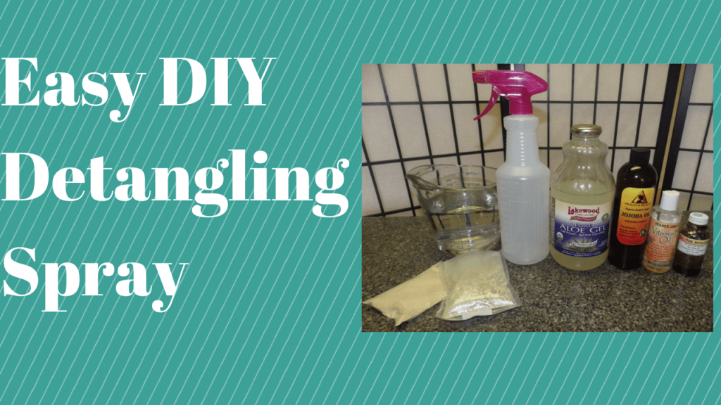 DIY Natural Hair Detangling Spray Using Marshmallow Root & Slippery Elm Powder