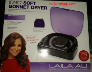 LP Share Uses Ionic Soft Bonnet Dryer Laila Ali Natural Hair Naturally LP