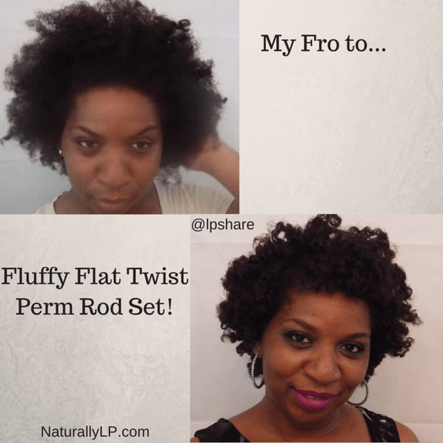 Fro to Flat Twist Perm Rod Set on Natural Hair