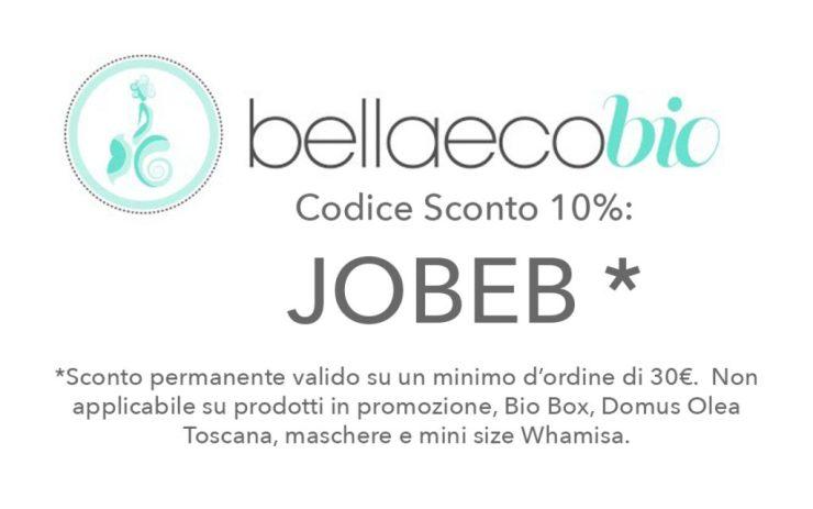 Codice sconto Bellaecobio del 10% - JOBEB