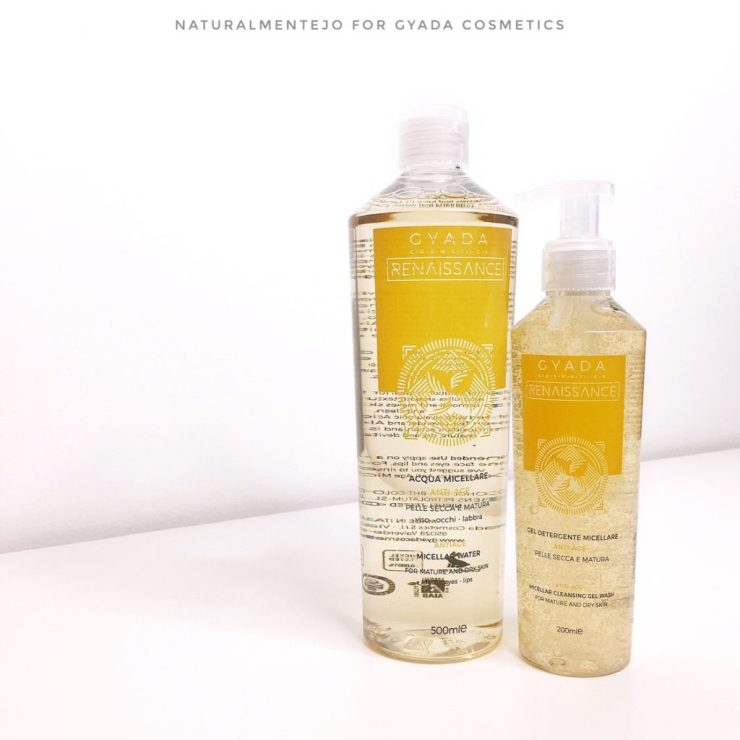 Aqcua e gel micellare anti-age gyada cosmetics
