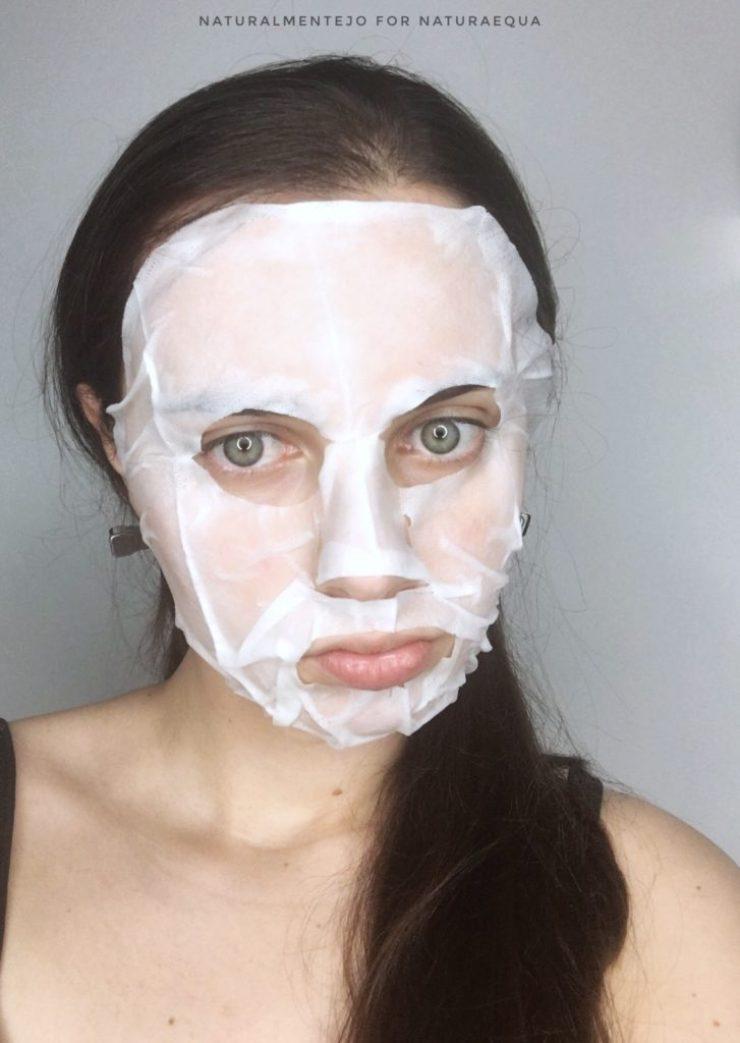 maschera viso lenitiva naturaequa indossata.. funzionerà?