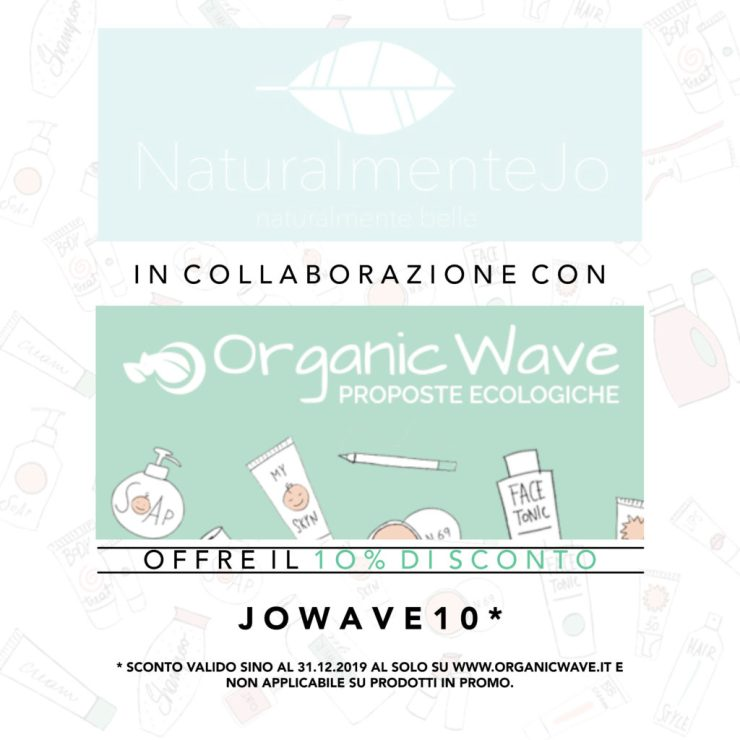 Banner codice sconto 10% Organicwave: JOWAVE10
