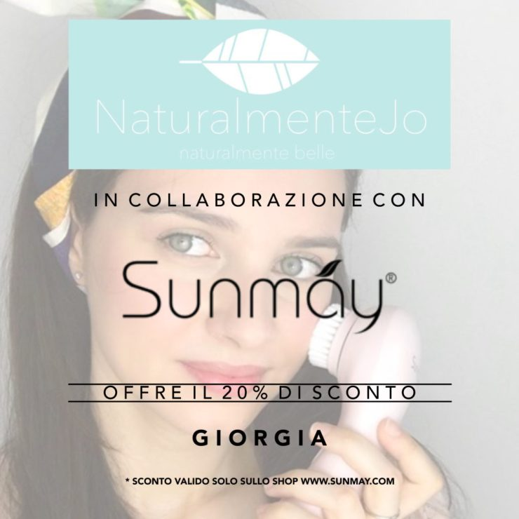 banner codice sconto per acquisto dispositivi di pulizia del viso sunmay: codice GIORGIA