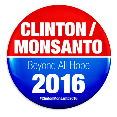 'March Against Monsanto'  Clinton-Monstanto-2016-Button-400