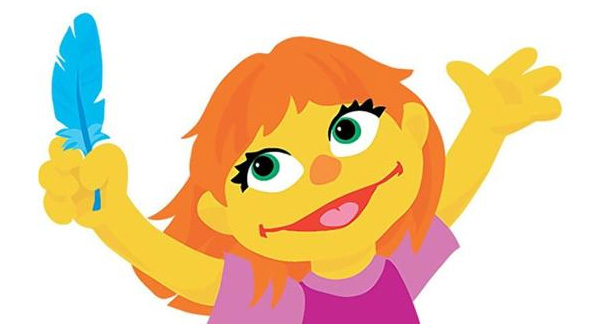 Sesame Street rolls out autistic muppet to 'normalize' vaccine injured children… follows Elmo push for mass vaccinations Julia-Autistic-Sesame-Street-600