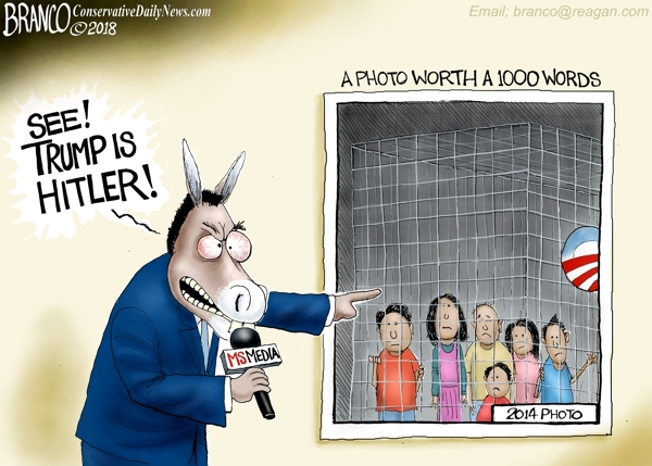 "The most hilarious memes mocking TIME's fake news ""screaming migrant girl"" magazine cover Branco-Caged-600"