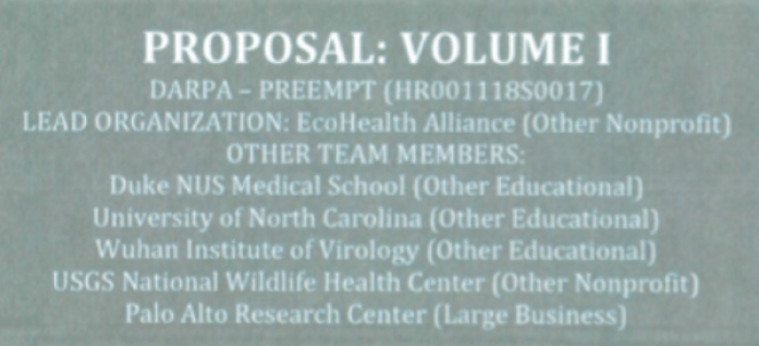 DARPA Ecohealth alliance proposal 158649203