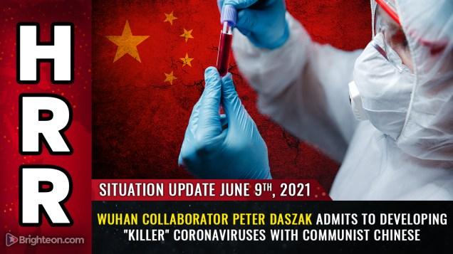 "Image: Smoking gun: Wuhan collaborator Peter Daszak admits to developing ""killer"" coronaviruses with communist Chinese"