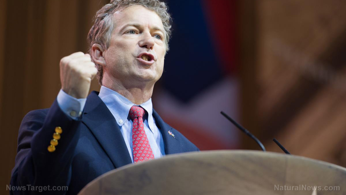 Image: Rand Paul exposes total fraud, deception of Fauci and the CDC, who deliberately ignore NATURAL immunity