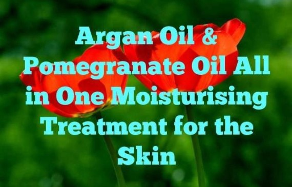 argan oil and pomegranate oil serum for the skin