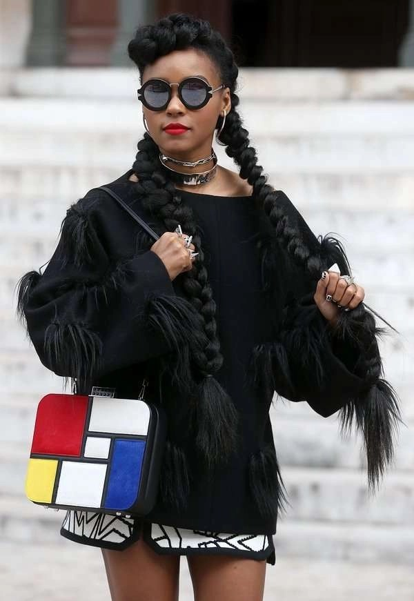 Janelle Monae 39 S Fabulous Hair Styles At Paris Fashion Week Natural Oils For Hair Health