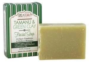 shea terra organics Tamanu & Green Clay Purifying Face & Body Cleansing Bar