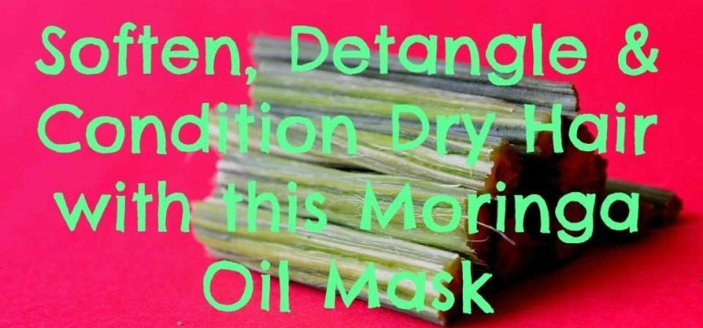Soften, Detangle & Condition Dry Hair with this Moringa Oil Mask