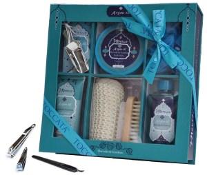 Argan Oil Bath Body Shower Spa Bath Salt Gift Set Basket for Women
